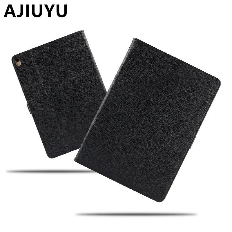 купить AJIUYU Case Cowhide For iPad Pro 10.5 inch Genuine Leather Smart Cover For Apple iPadPro10.5 Tablet Protector Protective A1701 9 онлайн
