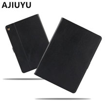 AJIUYU Case Cowhide For iPad Pro 10.5 inch Genuine Leather Smart Cover For Apple