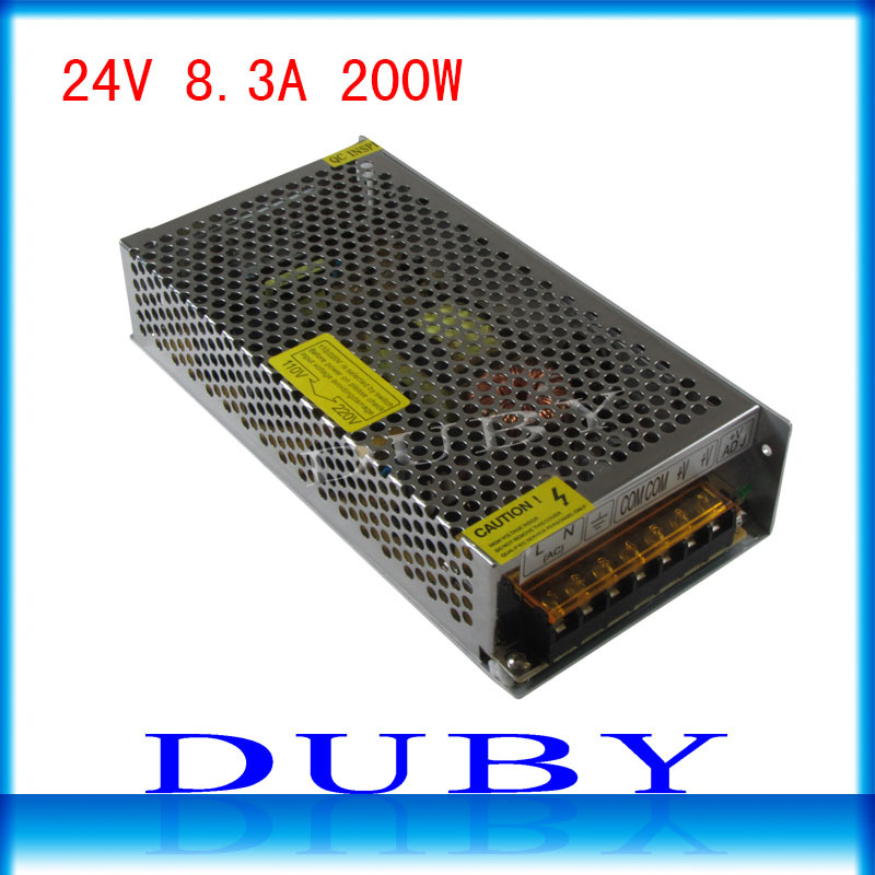 Big Volume 24V 8.3A 200W Switching power supply Driver For LED Light Strip Display AC100-240V Factory Supplier Free Shipping спортивные наушники вкладыши sony mdr xb510 as r