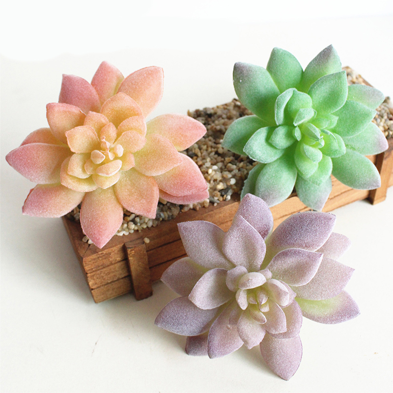Mini Artificial Succulents Plants Plastic Lotus Bonsai Landscape Decorative Fake Succulent Plant Garden Ornaments Home Decor S30