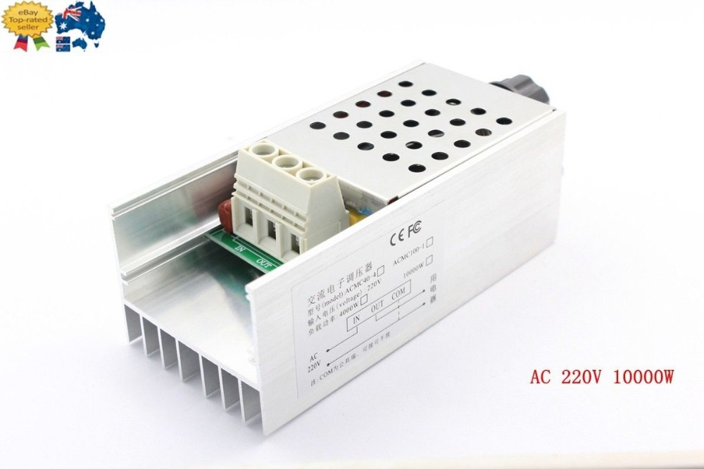 AC 220V 10000W SCR Motor Speed Controller Voltage Regulator Dimming Modulation стоимость
