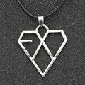 EXO Ожерелье Корея Ужин Группа Сердце Любовь Мода Серебряный Кулон Ювелирные Изделия Оптом