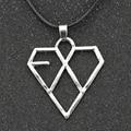 EXO Necklace Korea Supper Band Heart Love Fashion Silver Pendant Jewelry Wholesale