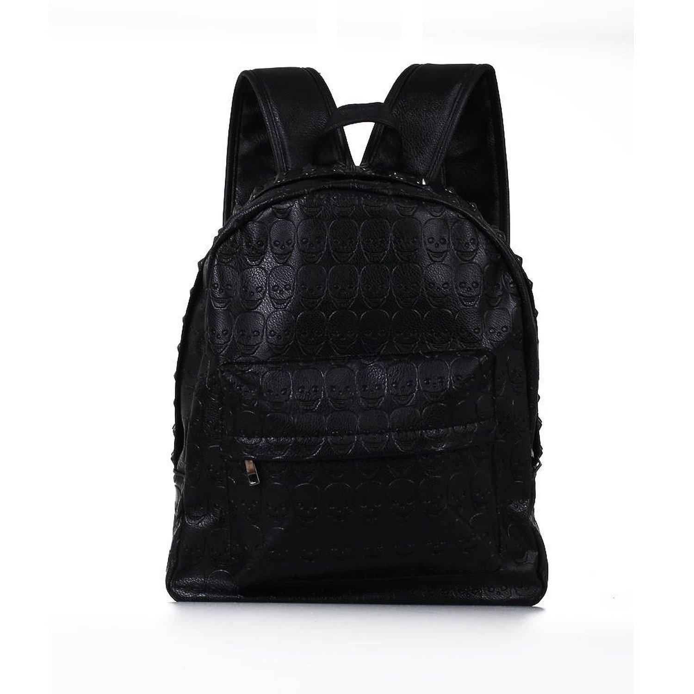 Wholesale 10*Backpack Bag Rivet PU Skull Womens Black Women Girl цены