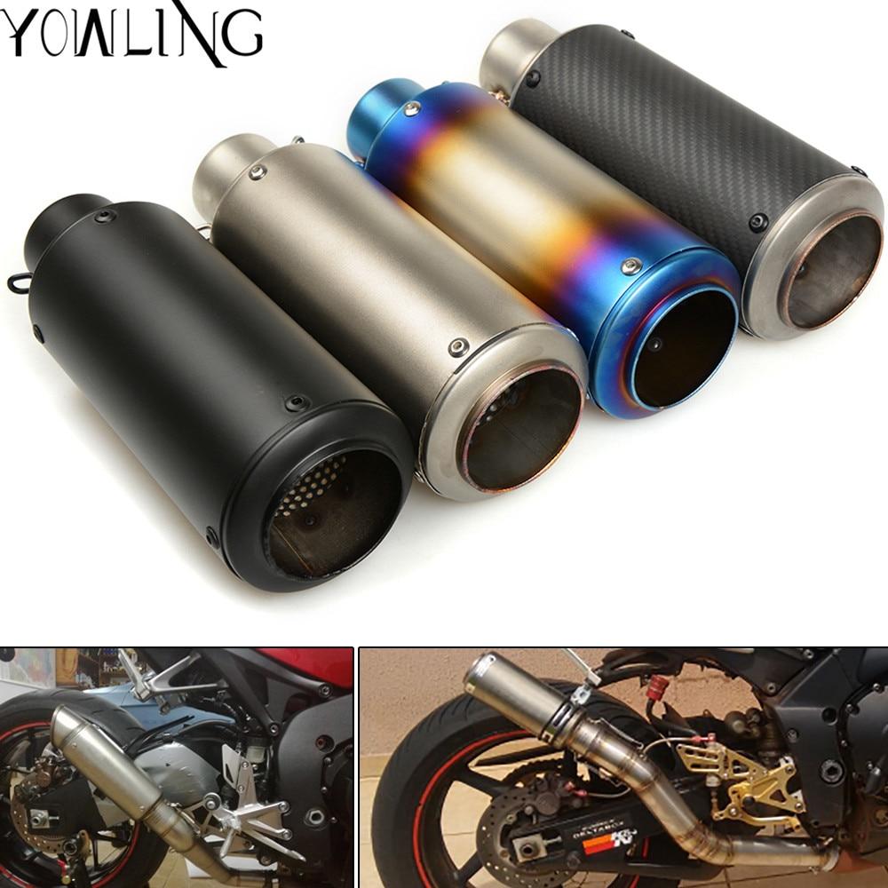 Motorcycle Exhaust Pipe Muffler Exhaust Mufflers Carbon Fiber For suzuki GSXR1000 GSXR600 GSXR750 K1 K3 K6 K8 K11 GSX-R GS500