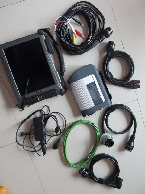 mb sd connect c4 mb star diagnosis with laptop rugged pc tablet ix104 c5 4g i7 newest software in ssd ready to use