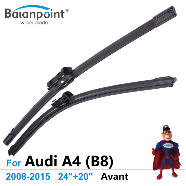 wiper blades for audi a4 b8 avant 2008 2015 24 20 set of 2 top rh aliexpress com Audi A4 B6 Windshield Wiper Blades