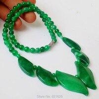 Beautiful Natural Irregular Round Beads Ice Green Jade Link Necklace Fashion Woman Man S Fine Jade