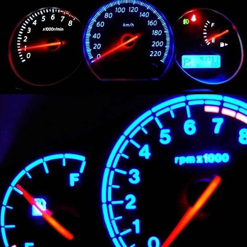 10pcs T5-B8.5D-5050smd LED SMD Lamp Gauge Speed Dash Bulb Dashboard Instrument Light 12V TN88