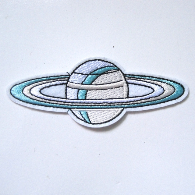 1pcs Outer Space World With universe Star Iron On Embroidered Applique Spaceship Patch for Jacket Clothes Badge DIY Apparel