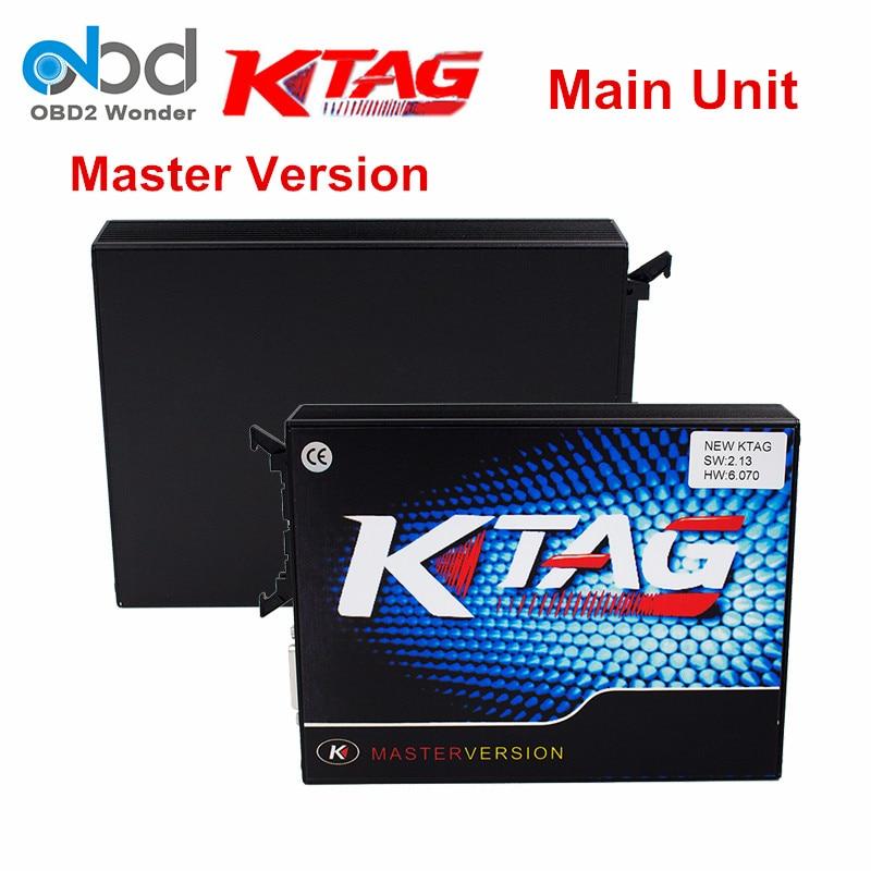 Цена за KTAG ЭКЮ чип настройки KTAG Основной блок V6.070 K TAG программист не ограничивается V2.13 K-TAG мастер Поддержка мульти-автомобили Бесплатная доставка