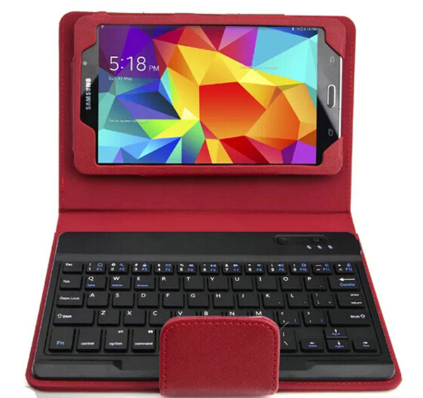 Detachable Removable Wireless Bluetooth Keyboard Leather Stand Case Cover For Samsung Galaxy Tab 4 7.0 Tab4 T230 T231 T235 7 new detachable official removable original metal keyboard station stand case cover for samsung ativ smart pc 700t 700t1c xe700t