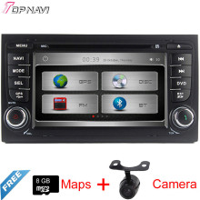 "Top 7"" Two Din Wince Car Multimedia For A4 2002 2003 2004 2005 2006 2007 2008 With DVD Radio GPS Map Bluetooth Free Shipping"