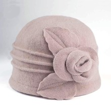 2019 New Dome Fedora Middle aged ladies Wool Hat Mom Hats in