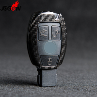 For Mercedes Benz W205 W211 W212 C117 W166 A B C E S R CLA GLE GLC Carbon Fiber Smart Remote Key Case Shell Holder Cover