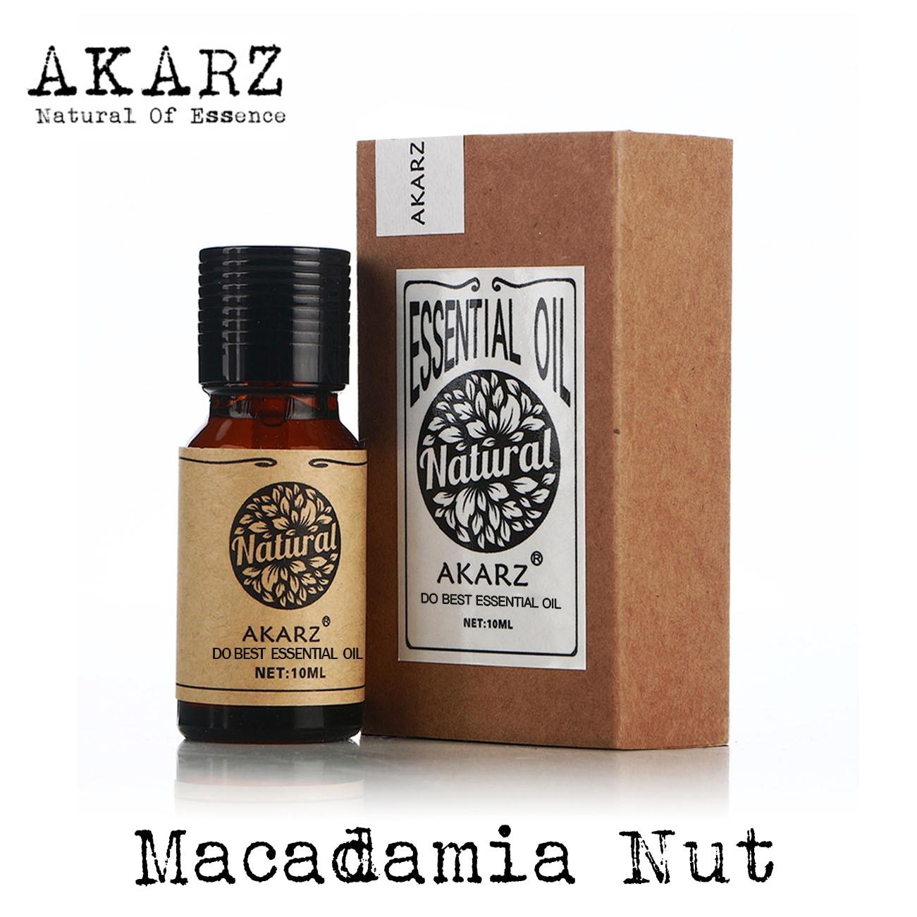AKARZ Célèbre marque naturel noix de Macadamia Huile Essentielle Anti-vieillissement Promouvoir le métabolisme de la peau pour améliorer la peau huile De noix de Macadamia