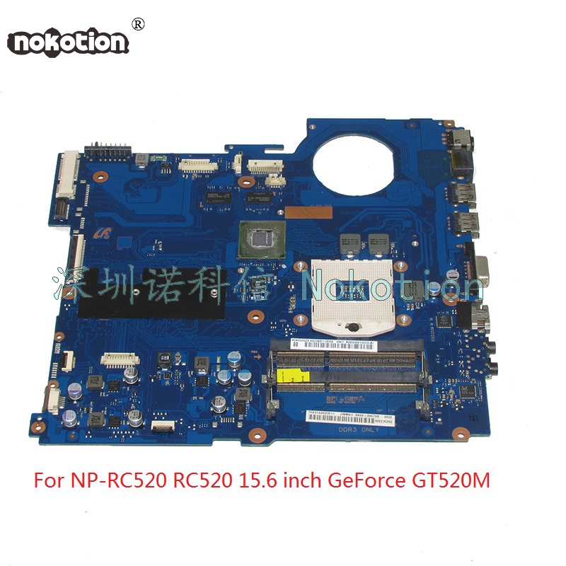 NOKOTION BA92-08079A BA92-08079B laptop motherboard For samsung NP-RC520 RC520 15 inch HM65 DDR3 GeForce GT520M 1GB Main board stylish hooded long sleeve drawstring mid length jeans coat for women