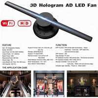 Новая усовершенствованная Wi Fi 3D голографический проектор голограмма плеер светодио дный Дисплей вентилятор рекламы Свет приложение Управ