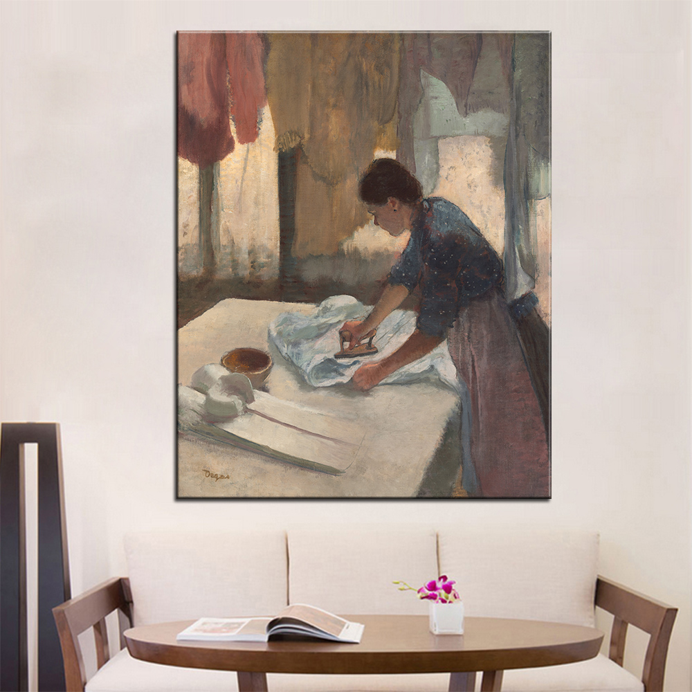 Artisan Home Decor http www frameitright com home decor Dp Artisan Woman Ironing Wall Painting Print On Canvas For Home Decor Oil Painting Arts No