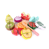 Wooden Kitchen Food Fruit Vegetable Cutting Kids Pretend Play Educational Toy Safety Children Kitchen Toys Sets