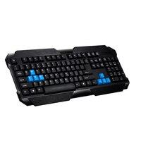 شغال تصميم 107 مفاتيح usb السلكية الأزياء مكتب المنزل محمول الألعاب لوحة المفاتيح مع الأزرق لعبة مفتاح لينوفو وآسوس ديل