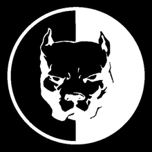 Black Pitbull Hero Dog Vinyl Decal Sticker Car Truck Window Bumper Laptop Cheap стоимость