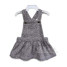 Фотография SHUZHI 2017 New Baby Sundress Baby girl denim dress Spring Summer Leopard Toddler Denim dresses infantil overalls dress