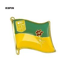 Значок флага Саскачевана булавка на лацкане 10 шт. брошь 20 шт. на лот значков KS-0126