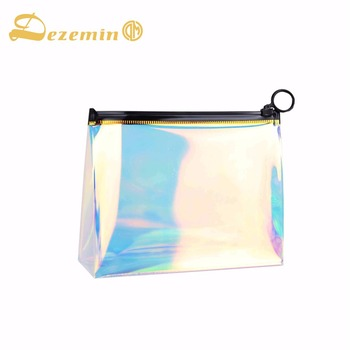 59f994b0169c4 DEZEMIN bolsa de maquillaje TPU holográfica claro bolsa de cosméticos  organizador de viajes