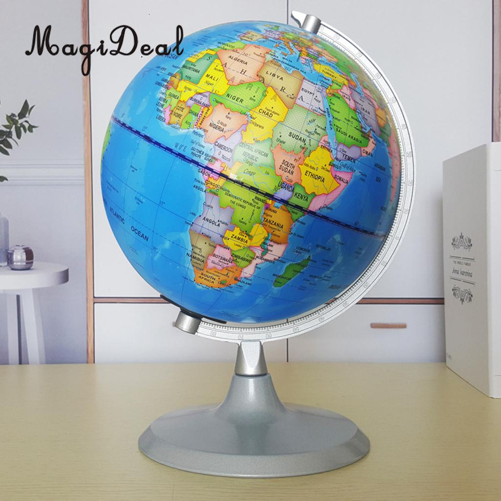 Map Of The World Globe View.Us 28 13 18 Off Magideal 20cm Day View World Globe And Night View Illuminated Constellation Map Globe For Home Table Desk Decoration Ornaments In