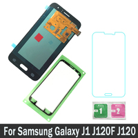 100% Tested AMOLED LCDs 4.5 For Samsung Galaxy J1 J120F J120 2016 J120G J120M J120H LCD Screen Display Touch Digitizer Assembly