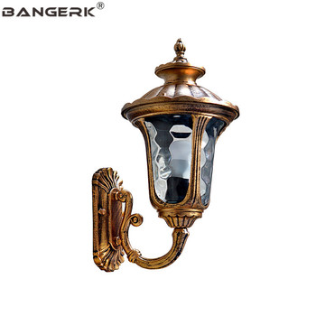 American Outdoor Waterproof LED Porch Lights Wall Sconce Lighting Vintage Garden Wall Lamp Fixtures Balcony Aisle Luminaire