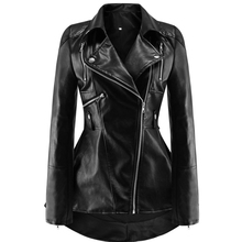 Women PU Jackets Casual Gothic Black Plus Size Pun