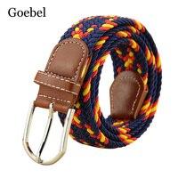 Goebel Womens Belt Brand Fashion Elastic Knitted Belts For Girls All-Match Pin Buckle Designer Belts Women High Quality