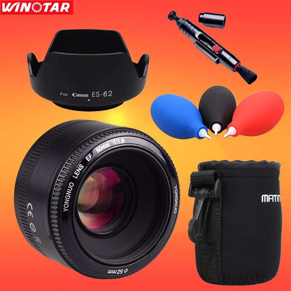 YONGNUO YN 50MM F1.8 objectif de mise au point automatique à grande ouverture pour Canon EF Mount EOS 760D 750D 700D 70D 80D 1300D 7D 6D 5D caméra, AF/MF
