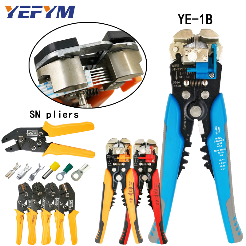 Hand Tools 3 In 1 Multi Tool Automatic Adjustable Crimping Tool Cable Wire Stripper Cutter Peeling Pliers D1 Blue Repair Diagnostic-tool