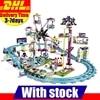 DHL LEPIN 01008 1124Pcs Amusement Park Coaster Building Kits Minifigure Girl Friend Blocks Bricks Toys Compatible