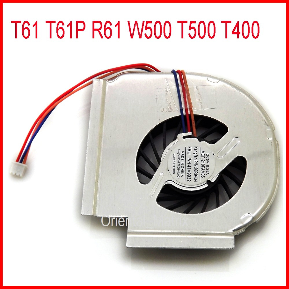 Envío gratis Nuevo MCF-217PAM05 42W2461 42W2460 3PIN para IBM Lenovo Thinkpad T61P T61 R61 W500 T500 T400 Laptop CPU Cooling Fan