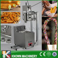 3L capacity of Spanish churros filler maker/making machine luxury churros machine with 6L gas fryer with free shipping