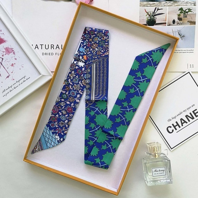 Brand Luxury 6colors Women Sharp-angled Scarf Water Glass Cup Prints Long Wraps Scarves Shawl Handkerchief Bag Decor 4