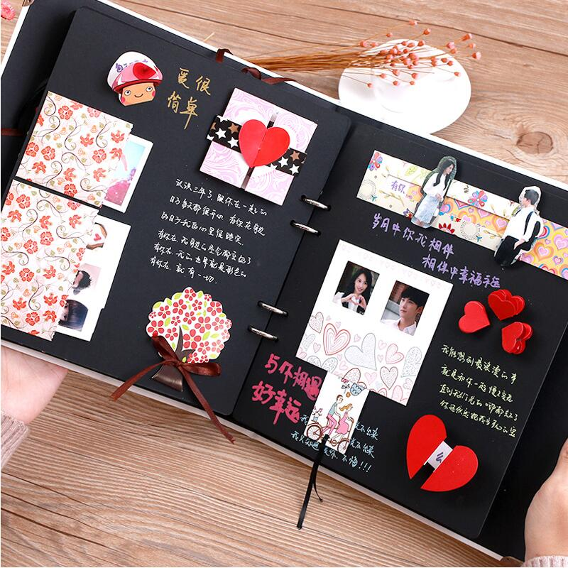 album with 38 funny cards diy creative handmade gift paste