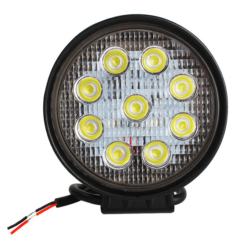 Hunting Boating Motorcycle Boat Epistar LED Work Light Offroad ATV SUV Car Tractor Truck Car-styling Flood Spot Beam 27W 6000K 1pcs 48w led work light for indicators motorcycle 30 flood beam driving offroad boat car tractor truck 4x4 suv atv 12v 24v