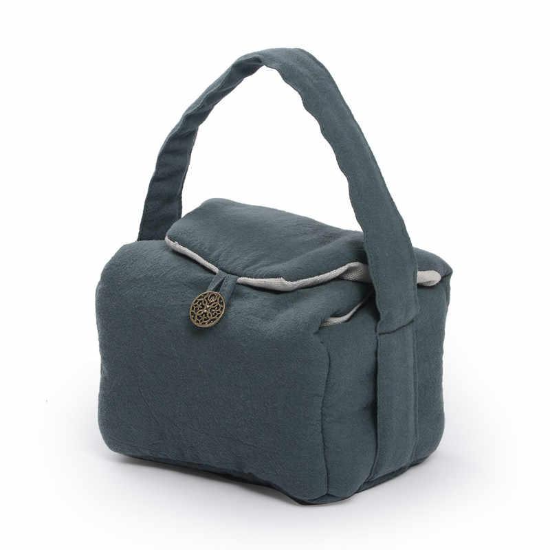 Дорожная сумка для хранения чайной посуды для удобной переноски/Хлопковая Сумка для белья, подходящая для одного чайника, двух чайных чашек, держатель чайной церемонии, аксессуары
