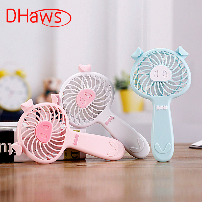 DHaws New Portable Mini Aromatherapy Fan Hand Rechargeable Battery Fan Operated USB Power Handheld Electric Fan Air Cooler