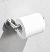 Leyden Brushed Finish Toilet Paper Holder SUS304 Stainless Steel,Silver Tissue Hanger Wall Mounted Round Base No Sharp Angel
