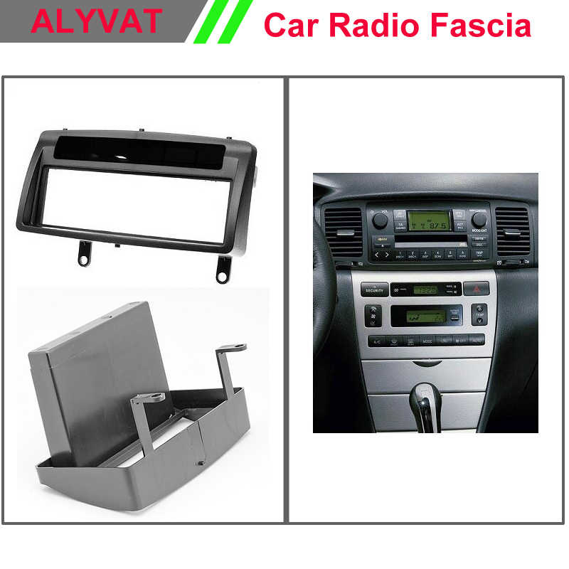 Din Audio Fascia for TOYOTA Corolla w/pocket Headunit Radio CD GPS DVD Stereo CD Panel Dash Mount Installation Trim Kit Frame