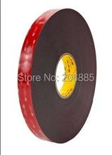 3 М VHB 5952 высокой липкий акриловый клей пена ленты/Черный цвет высечки VHB 5952 tape12mm * 33 М/5 рулонов/много бесплатная доставка