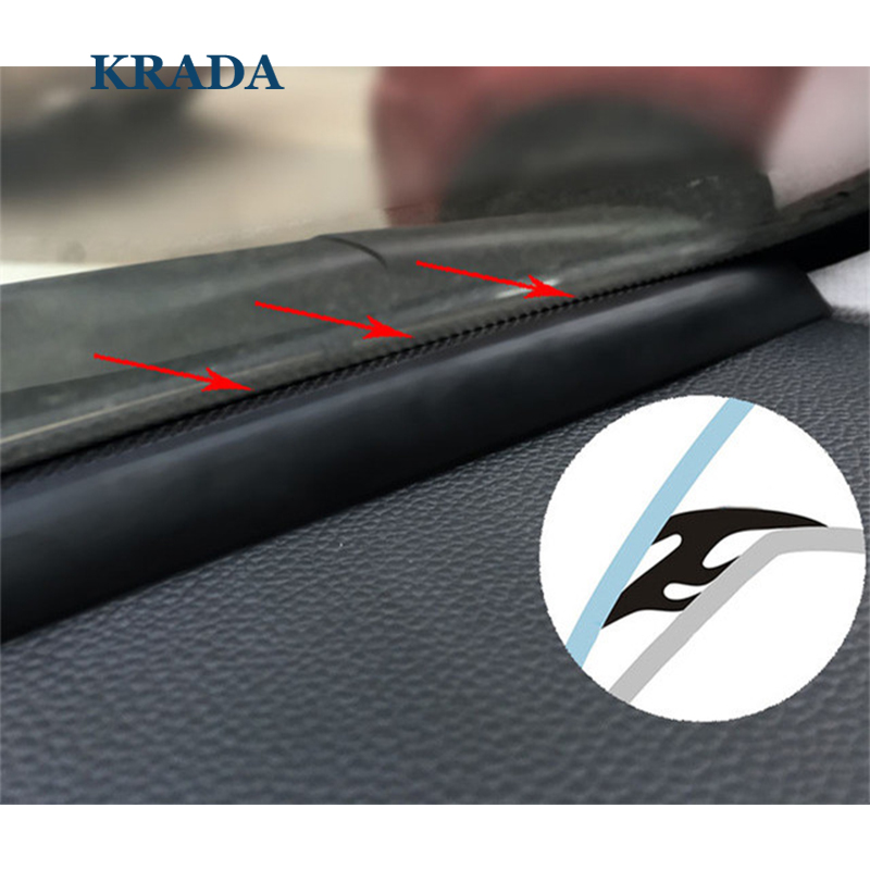 KRADA T type auto rubber seals 1 6m windshield seal adhesive strips car styling for vw