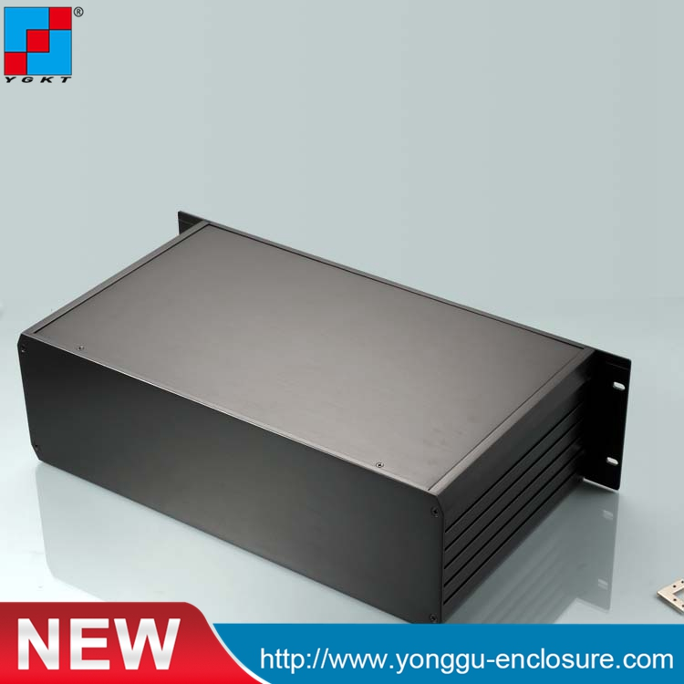 YGH-002-3B 482*133.4*250mm 19'3U Aluminum instrument flat box with communication network equipment 482 133 4 295 250mm aluminum communication video aluminum frame chassis housing case with handle ygh 002 3u