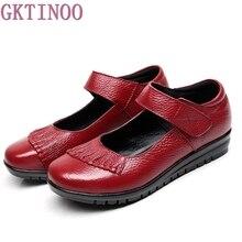 Размеры 35–43 Модные женские туфли Обувь из натуральной кожи на плоской подошве женская обувь Мягкая Повседневная рабочая обувь Женские туфли-лодочки